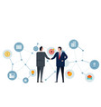 handshake businessman two leader making deals vector image