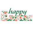 Happy Easter greetings card calligraphic vector image vector image