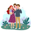 happy family having fun together in park vector image vector image