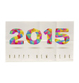 Happy New Year 2015 folded paper poster vector image vector image
