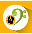 head silhouette listening music symbol vector image vector image