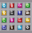 home appliances glass icons set vector image vector image