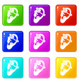 human ear with piercing set 9 vector image vector image