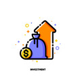 icon investment portfolio growth revenue increase vector image