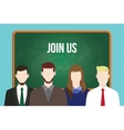 join us hr human resource business vector image