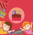 kids happy birthday vector image vector image