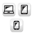 laptop tablet smarthone vector buttons set vector image vector image