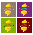 lemon fruit set in flat design vector image vector image