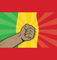 mali africa country fight protest symbol with vector image vector image