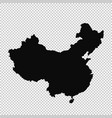 map china isolated black on vector image vector image