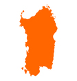 Map of Sardinia vector image vector image