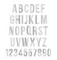 paper graphic alphabet set vector image