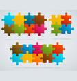 parts of colorful puzzles vector image vector image