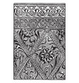 plaster is a decorated with gilding and vector image vector image