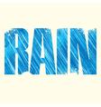 Rain sign vector image vector image