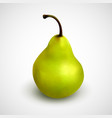 realistic green pear delicious fruit isolated vector image