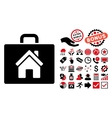 Realty Case Flat Icon with Bonus vector image vector image