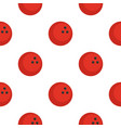 red marbled bowling ball pattern flat vector image vector image
