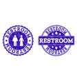restroom grunge stamp seals vector image vector image