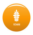 rowan leaf icon orange vector image vector image