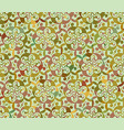 seamless abstract floral interesting pattern vector image vector image