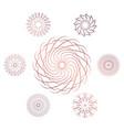 set of seven geometric circular elements vector image vector image
