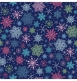 Snowflakes On Night Sky Seamless Pattern vector image vector image