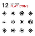 sunshine icons vector image vector image