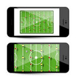 table football app on mobile phone - soccer game vector image vector image