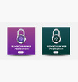 template for social media banners with padlock vector image vector image