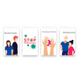 templates set covid-19 for social media network vector image vector image