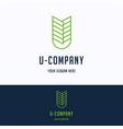 u company logo vector image