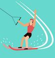 water skier have fun on sea vector image vector image