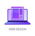 web design digital interface design concept vector image vector image