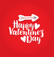 words happy valentines day with hearts and arrow vector image vector image