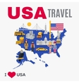 World Travel Agency USA Culture Flat Poster vector image vector image
