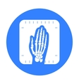 X-ray hand icon black Single medicine icon from vector image