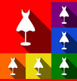 mannequin with dress sign set of icons vector image