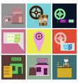 flat icons set cinema vector image