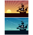 pirate backgrounds vector image