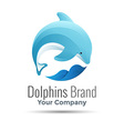 dolphin logo design Template for your business vector image