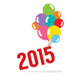 2015 With Balloon Bunch Celebrate Concept vector image vector image