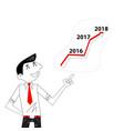achievementsuccess and growth conceptbusinessman vector image