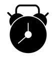 alarm clock solid icon watch vector image