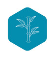 bamboo icon outline style vector image vector image