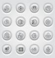 bitcoin and blockchain crypto technology button vector image