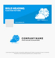 blue business logo template for brainstorming vector image