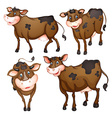 Brown cow vector image vector image