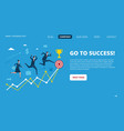Business landing page successful people