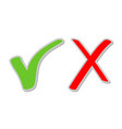 buttons for apply accept yes and exit remove no vector image